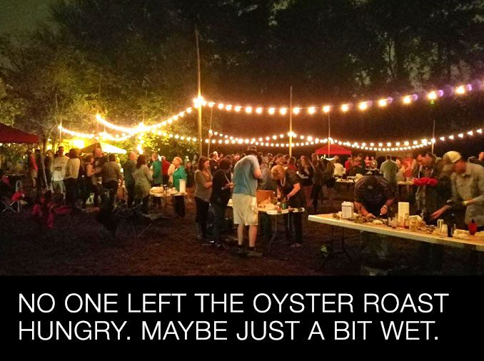 No one left the Oyster Roast hungry.
