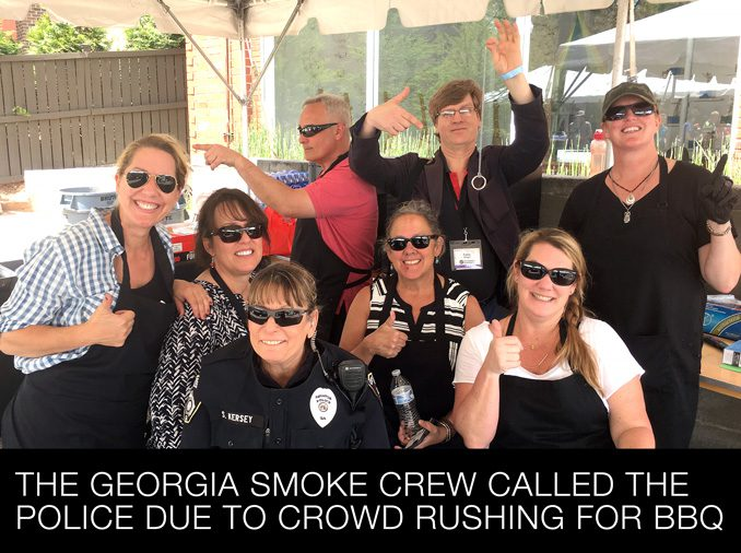 The Georgia Smoke Crew Called the Police Due to Crowd Rushing for BBQ