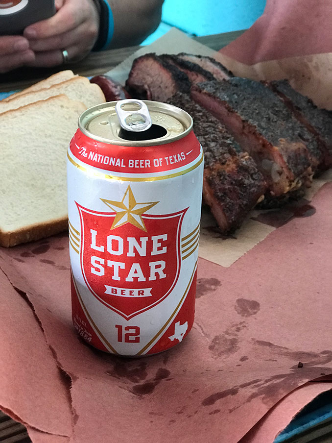 They sold Lone Star beer there