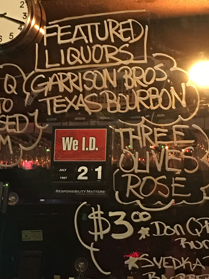 Garrison Bros. Texas Bourbon was not tasted by either of us