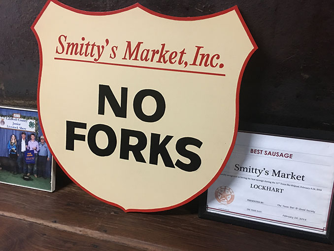 Read the sign. No forks (and no forks were needed)