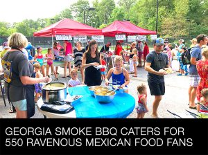 Georgia Smoke BBQ Caters for 550 Ravenous Mexican Food Fans
